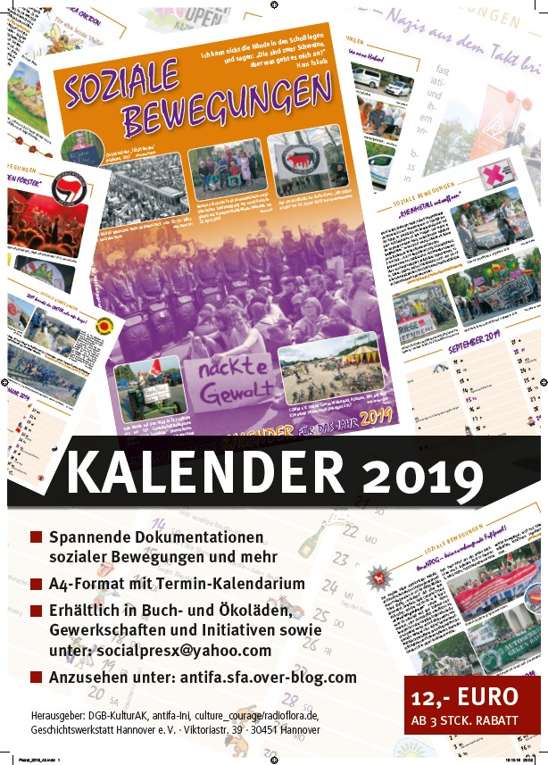 Kalender Soziale Bewegung