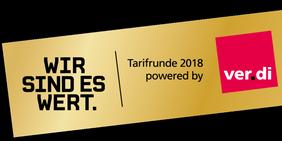 Logo Wir sind es wert! von ver.di zur Tarifrunde im Öffentlichen Dienst 2018