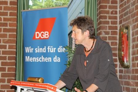 Annelie Buntenbach am 28.08.13 in Uelzen