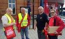 Rentenaktionstag am Hundertwasserbahnhof in Uelzen